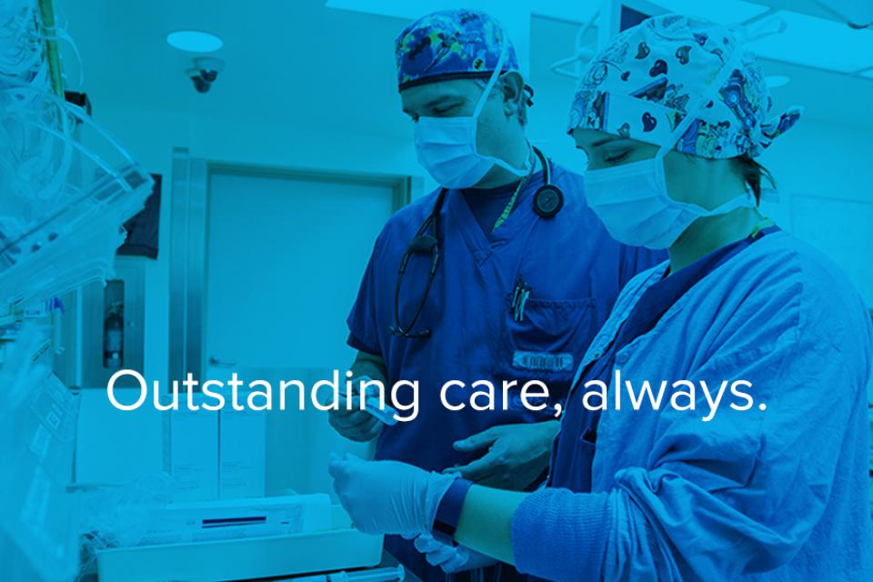 staff in our OR work together to prepare for a procedure