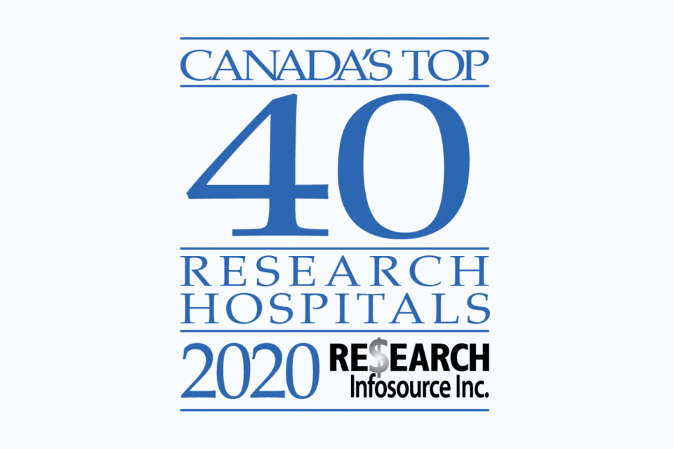 Top 40 Research Hospitals 2020 Logo