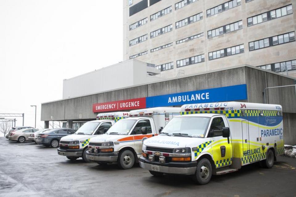 Ambulances at Emergency Department