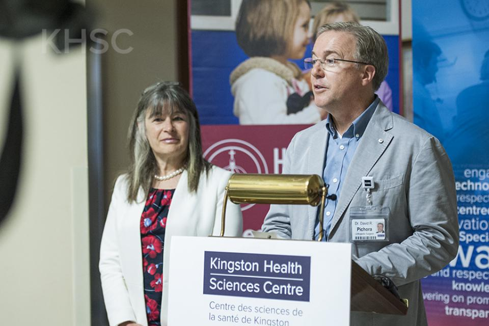 President and CEO Dr. David Pichora thanks MPP Sophie Kiwala
