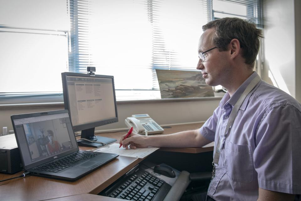 Dr. Gavin Winston was one of several neurologists who took part in the study of virtual care for patients with epilepsyDr. Gavin Winston was one of several neurologists who took part in the study of virtual care for patients with epilepsy