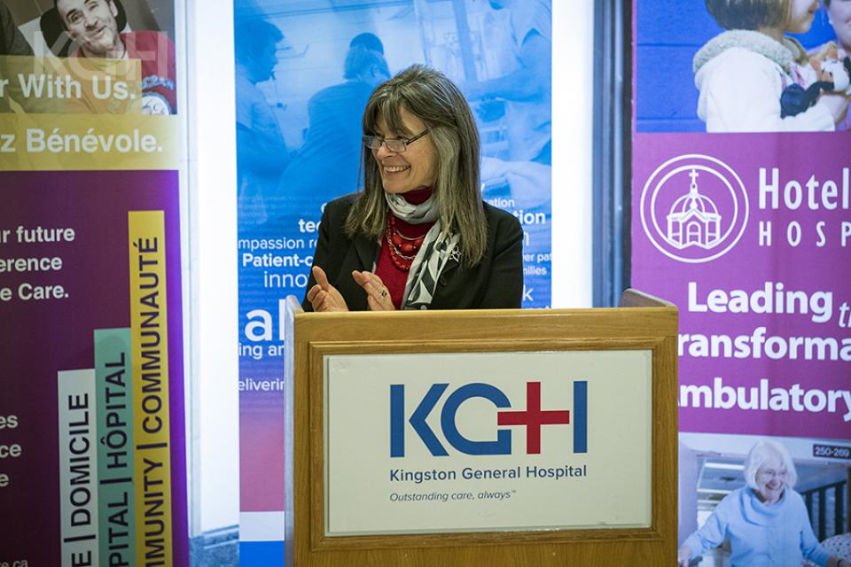 MPP Sophie Kiwala announced new funding to support Kingston's hospitals on November 25