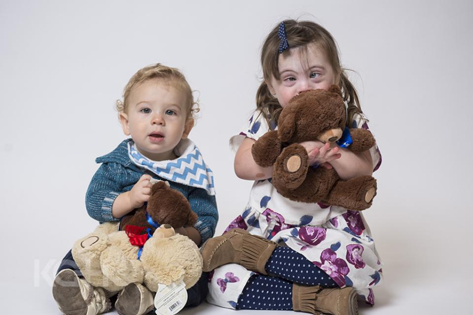 Pip McCallan and her brother helped to promote the 2016 'Show Children You Care' Teddy Bear Campaign.