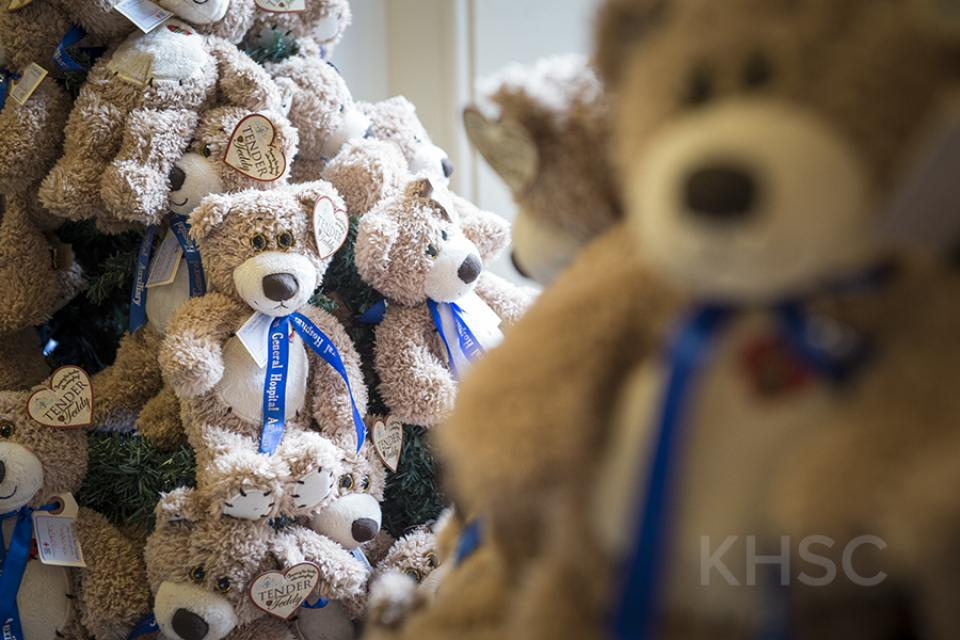 Thanks to the generosity of donors, the 2018 Teddy Bear Campaign raised more than $33,000 and distributed more than 300 large and small bears to our youngest patients across eight pediatric programs.