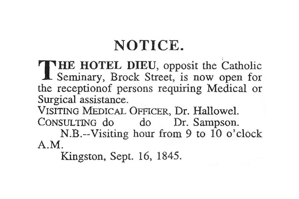Notice to Kingston