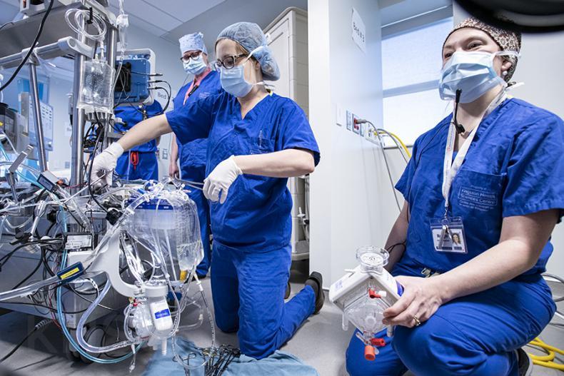 cardiac clinical team during simulation event