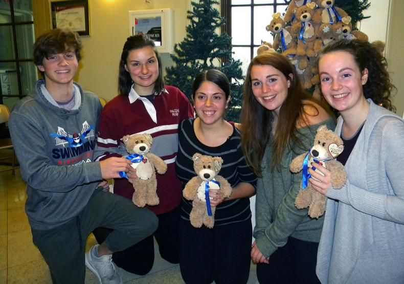 student volunteers at Teddy Bear campaign launch