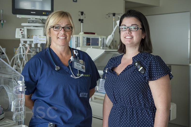 KHSC nurses Lynn Newton (L) and Danica Hamilton (R) named to special CNA top 150 list