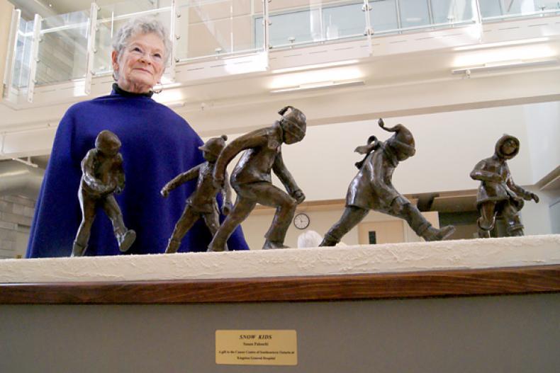 New sculpture graces Burr wing lobby