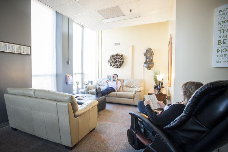The recently renovated Wellness Centre open for staff at KGH this past Spring.