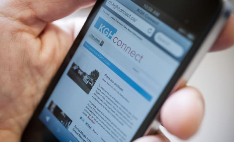 Much like the KGHConnect, KGH's new corporate site will be fully compatible with any mobile device and much easier to navigate, search and share information from.