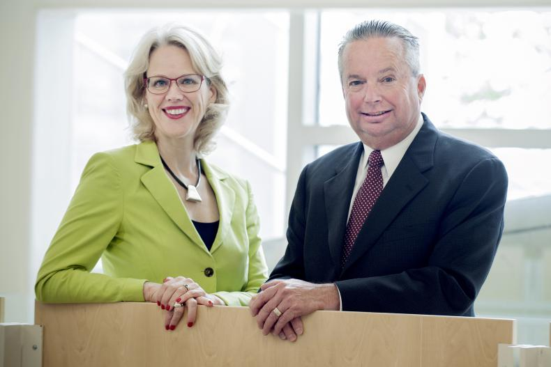 KGH President & CEO, Leslee Thompson and Chair, KGH Board of Directors, Tom Buchanan.