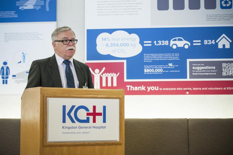 Director of Facilities Allan McLuskie speaks during the media event