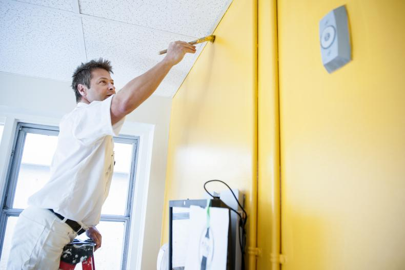 Colourful paint on the walls, which match the new wayfinding signs, will help patients and families find their way around KGH.
