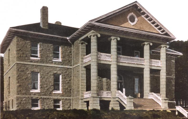 A commemorative postcard representing Kingston General Hospital Nurses' Home, 1908.