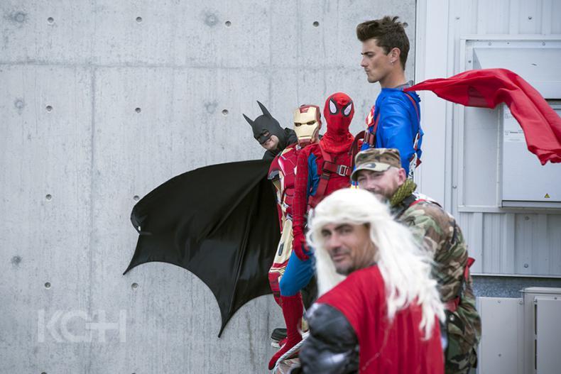 KGH kids get a super hero treat