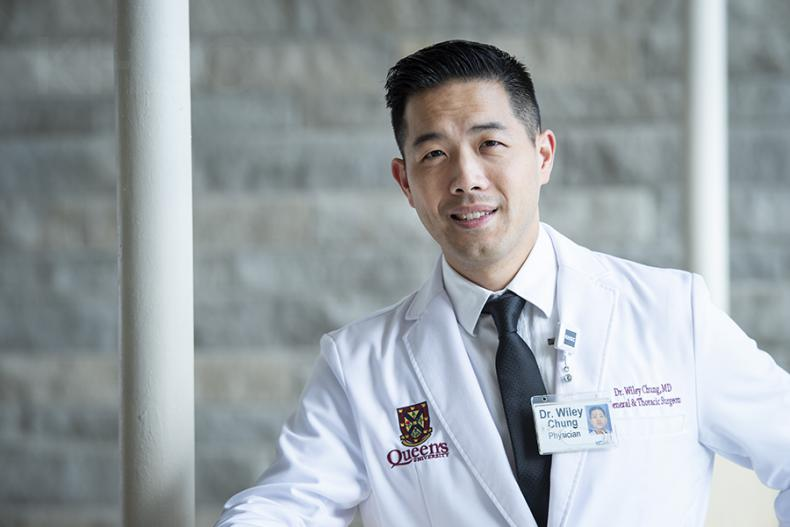 Dr. Wiley Chung performs general and thoracic surgery and arrived at KHSC as part of the recruitment campaign