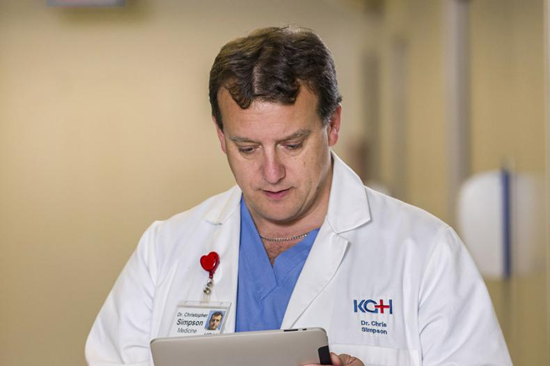 KHSC Cardiologist Dr. Chris Simpson is one of the specialists taking part in the project