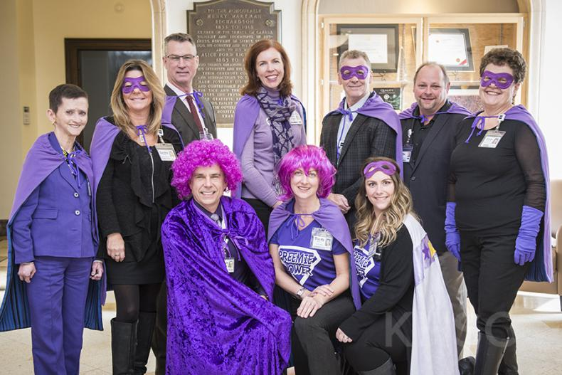 Staff, physicians and families at both KGH and HDH recognize World Prematurity Day