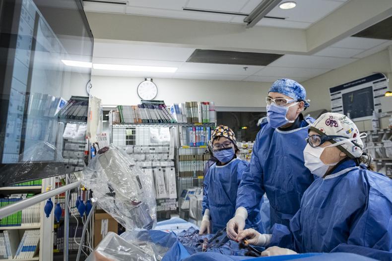 medical team providing treatment