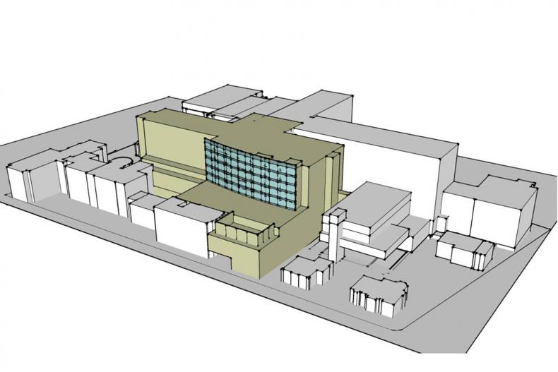 The new facility (in green) will include new Operating Rooms, Emergency Department, Neonatal Intensive Care Unit and more.