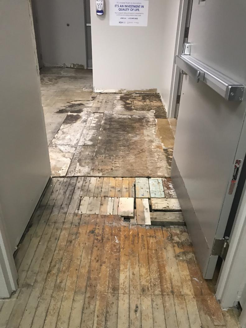 stripped flooring