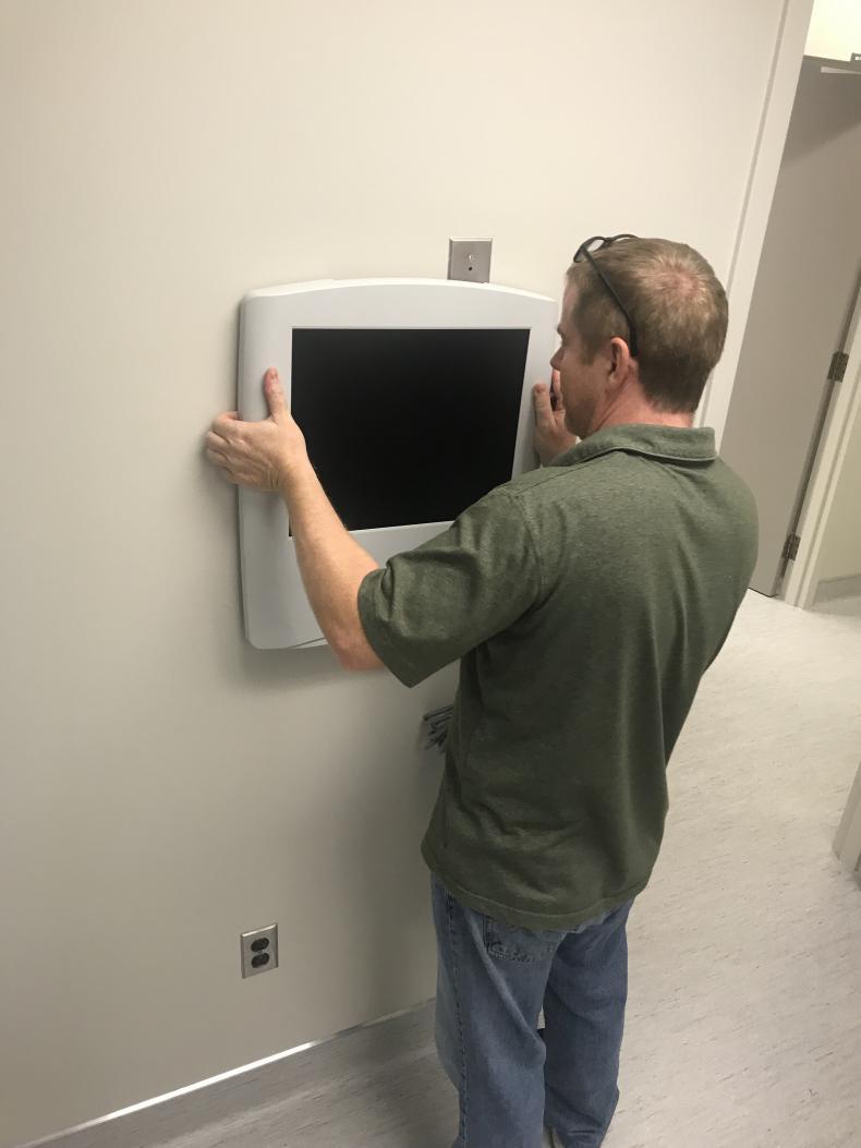 installing eye equipment