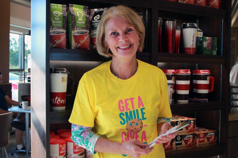 KGH staff volunteered at Tim Hortons locations during Smile Cookie week