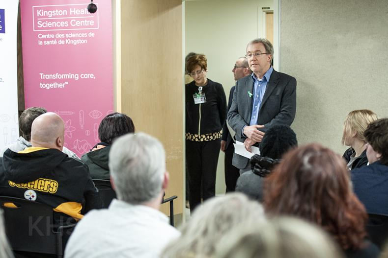 Dr. David Pichora welcomes friends and families of donors to the biannual Organ and Tissue Donor Memorial Wall ceremony