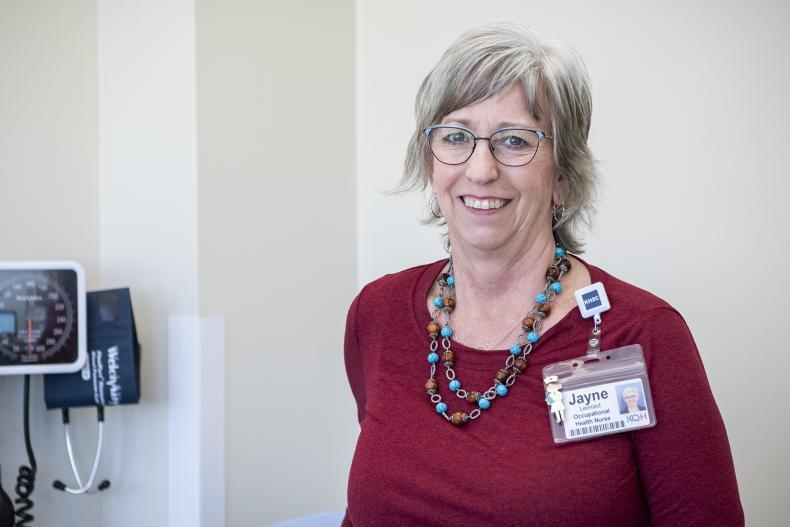 Jayne Leonard, Occupational Health Nurse at KHSC.