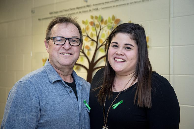 Donnie Brinklow and his daughter Nicole are grateful for every day and the gift from their donor