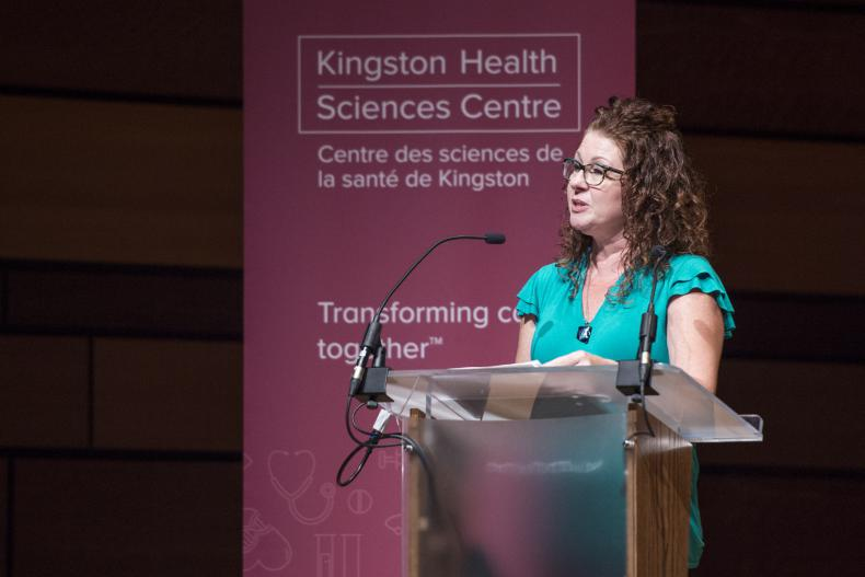 """""""You'll know in your heart what the right decision is for you and I want all women to be informed on the options that they have available to them,"""" says Lisa, a patient who shared her journey to breast reconstruction with the audience."""
