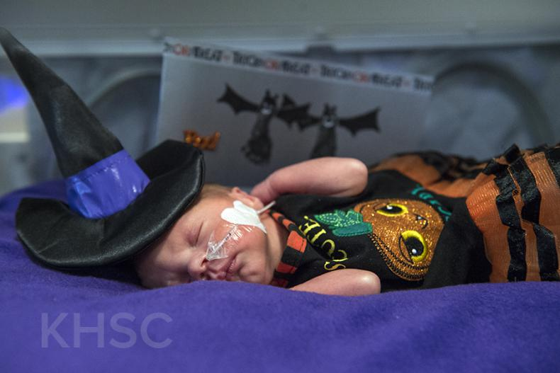 Even our smallest patients in the NICU were dressed up for the occasion
