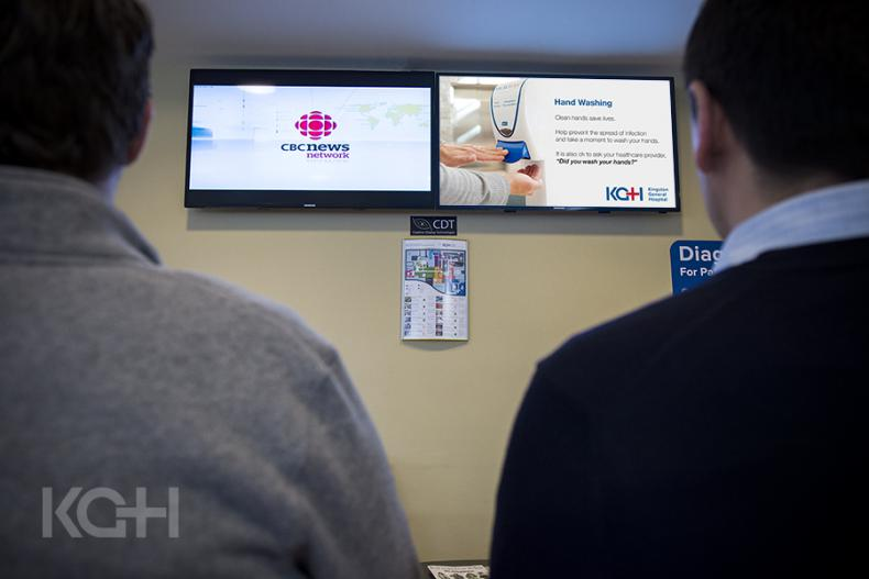 TV screens in our Emergency Department waiting room
