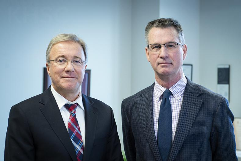 From left, KHSC President and CEO, Dr. David Pichora and Chair, Board of Directors, David O'Toole