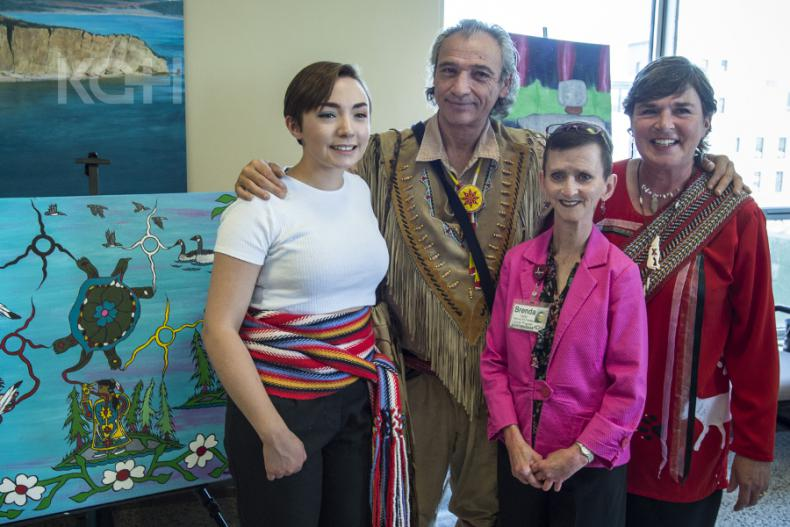 Artists Morris Blanchard, Deb St. Amant and Laura St. Amant with SERCP Regional Vice President Brenda Carter celebrate the opening of the new space