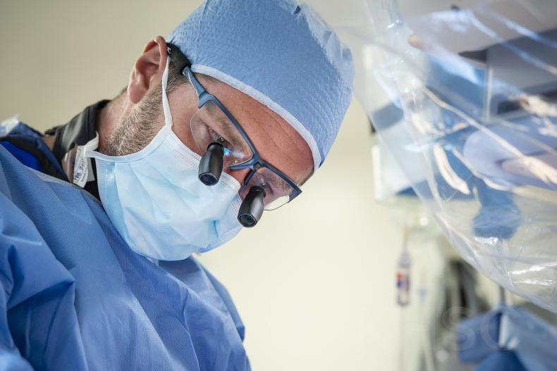 Dr. Gianluigi Bisleri in the operating rooms at our KGH site