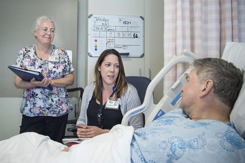 The project allows patients designated as needing an alternate level of care to transition out of the hospital to a more appropriate environment