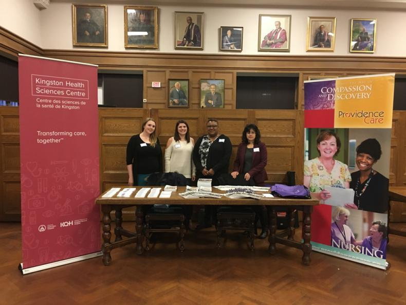 Staff from KHSC and Providence Care together at a job fair