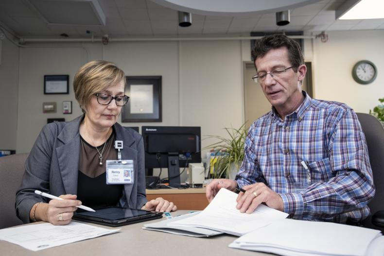 staff doing paperwork