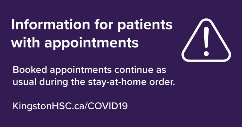 graphic reminding patients to come for appointments