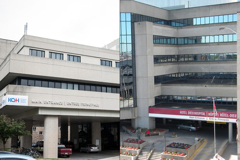 Exterior views of KGH and Hotel Dieu