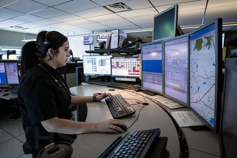 ACO at communications console