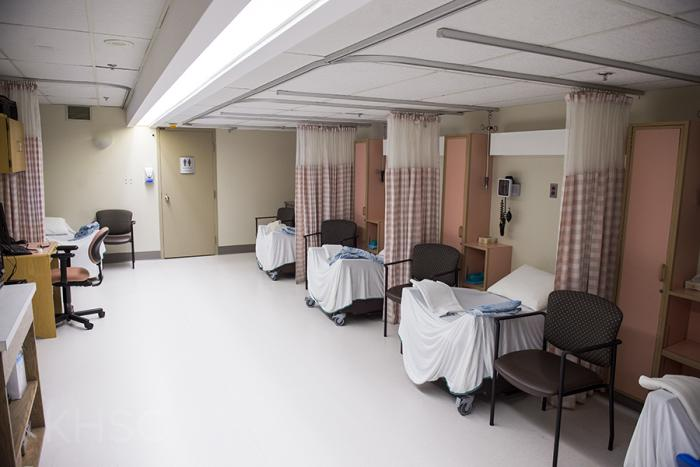 The recovery area in our Colposcopy Clinic