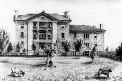 The historic Watkins Wing at Kingston General Hospital.