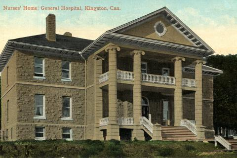 A commemorative postcard representing Kingston General Hospital Nurses' Home, 1908