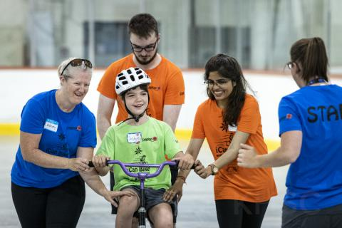 kids at iCan Bike camp
