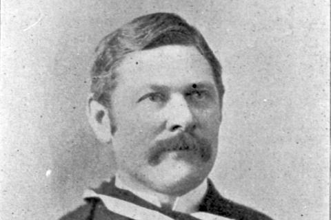 A proponent of antisepsis, Dr. Kenneth N. Fenwick's contributions were instrumental in advancing surgical and medical training at Kingston General Hospital during the mid-late 19th century. (c.1896)