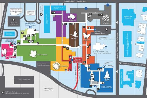 A sneak peek of the new map of KGH that was developed as part of the overall wayfinding project.