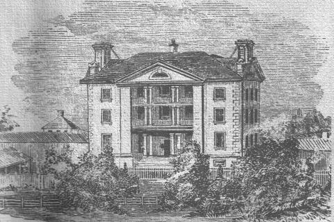 A view of KGH from the 1850's.